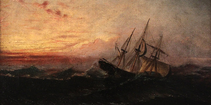 Lawton S. Parker, Untitled (seascape), oil on canvas, 1884