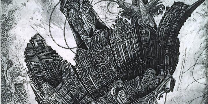 Victoria Goro-Rapoport, Noah's Burden, etching (7/20), 2011