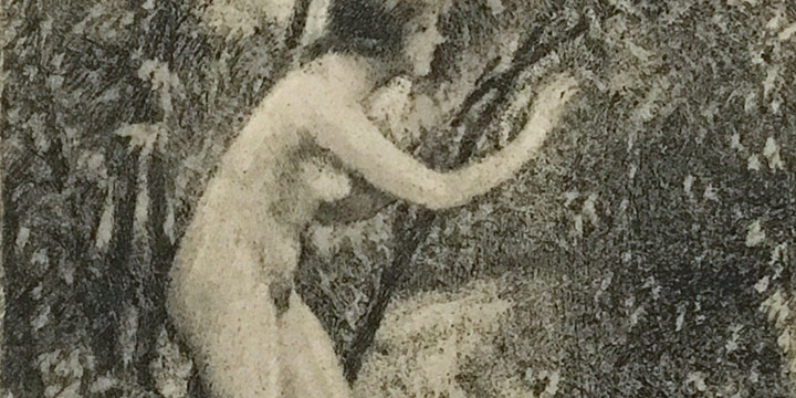 Lawton S. Parker, Nude in Trees,etchings,n.d.