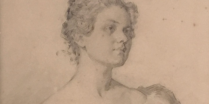 Lawton S. Parker, Young Woman, graphite, conte crayon on board, n.d.