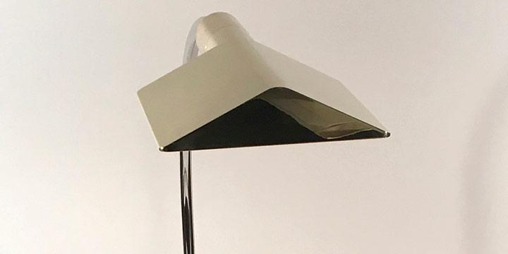 Cedric Hartman, Low Profile Luminaire-2WV, chromium plate, brass, stainless steel, 1966