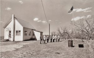 "Charles Guildner, Rural Schools of Nebraska 2: Bodarc School, digital photography, c. 2013, 13 × 19"""