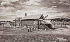 "Charles Guildner, Rural Schools of Nebraska 2: Elsmere School, digital photograph, c. 2013, 13 × 19"""