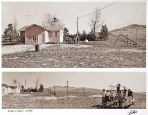 "Charles Guildner, Rural Schools of Nebraska 2: Hillview School, digital photograph, c. 2013, 13 × 19"""