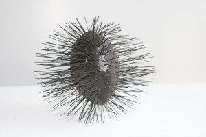 Reinhold Marxhausen, Untitled (sound with spikes), stainless steel, n.d., collection of Concordia University Nebraska