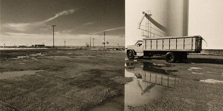George Tuck, Split Image, Seibert, Colorado, black & white photograph, 1998