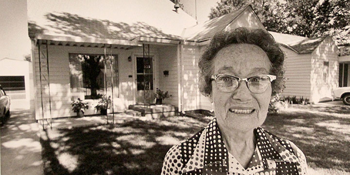George Tuck, The Day She Sold Her Home, Dumas, Texas, black & white photograph, 1980