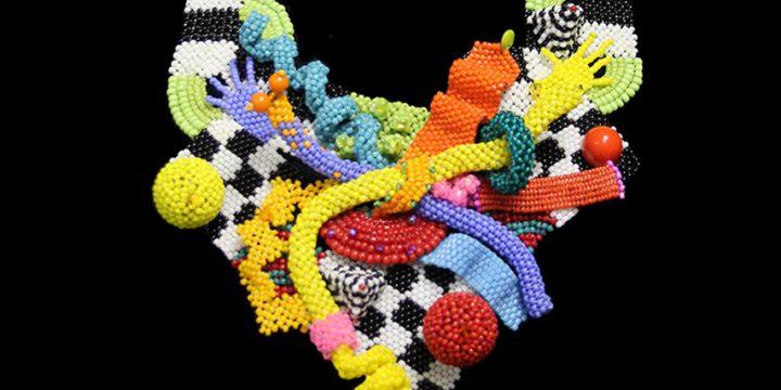 Marcia Laging Cummings, Jailbreak, seed beads, 2010
