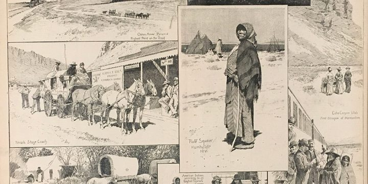Henry Francois Farny, Sketches on a Journey to California in the Overland Train, wood engraving, published in Harper's Weekly, 1890