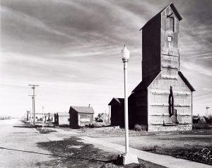 Wright Morris, Grain Elevator and Lamp Post, Nebraska, 1940