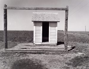 Wright Morris, School Outhouse and Backstop, Nebraska, 1947