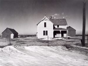 Wright Morris, Farmhouse with Drifted Snow, Near York, Nebraska, 1941