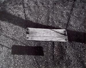 Wright Morris, Swing Seat, School Yard, Nebraska, 1947