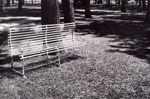 Wright Morris, Park Bench, Central City, Nebraska, 1947