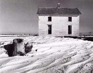 Wright Morris, House and Stump, Windswept Snow, Near York, Nebraska, 1941