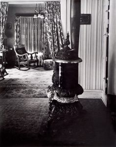Wright Morris, Stove and View of Parlor, The Home Place, Near Norfolk, Nebraska, 1947