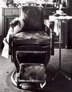 Wright Morris, Barber Chair, Cahow's Barber Shop, Chapman, Nebraska, 1942