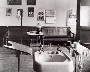 Wright Morris, Basin, Cahow's Barber Shop, Chapman, Nebraska, 1947