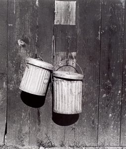 Wright Morris, Garbage Pails, Pomona, California, 1936