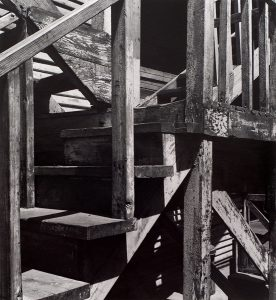 Wright Morris, Wooden Stairs and Landing, Pomona, California, 1936