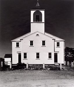 Wright Morris, Church near Turo, Cape Cod, Massachusetts, 1939 (vertical), silver print, 1975