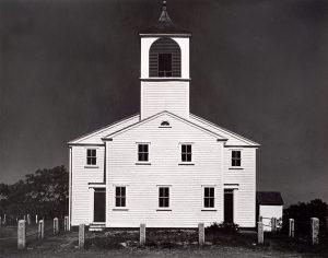 Wright Morris, Church near Turo, Cape Cod, Massachusetts, 1939 (horizontal), silver print, 1975