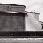 Wright Morris, Brick and Wood Joined Buildings, Media, Pennsylvania, 1940, silver print, 1975