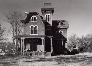 Wright Morris, Brick Victorian House, Near Media, Pennsylvania, 1940, silver print, 1975