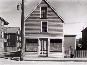 Wright Morris, Empty Shop with Rooms Above, Salem, Massachusetts, 1940, silver print, 1975