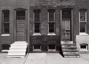 Wright Morris, Steps - Painted and Unpainted, Baltimore, Maryland, 1940, 1940, silver print, 1975
