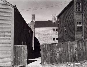 Wright Morris, Early American Houses, Near Salem, Massachusetts, 1940, silver print, 1975