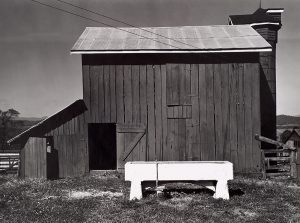 Wright Morris, Barn and Water Trough, South of Washington, D.C., 1940, silver print, 1975