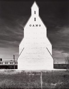 Wright Morris, Gano Grain Elevator, Western Kansas, 1940, silver print, 1975