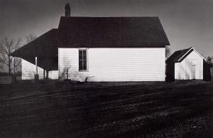 Wright Morris, Rural Schoolhouse, Eastern Kansas, 1940, silver print, 1975