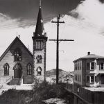 Wright Morris, Church and House, Virginia City, Nevada, 1941, silver print, 1975