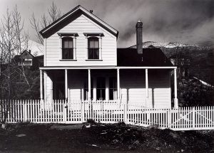 Wright Morris, House with Picket Fence, Virginia City, Nevada, 1941, silver print, 1975