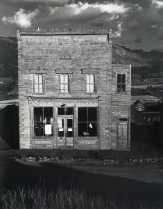 Wright Morris, Nelson's Block 1882, Kokomo, Colorado, 1944, silver print, 1975