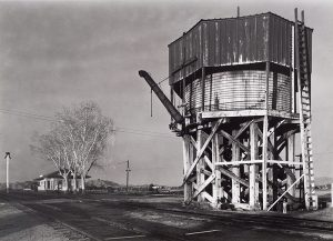 Wright Morris, Waterstack, Near Lordsburg, New Mexico, 1940, silver print, 1975
