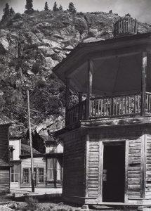 Wright Morris, Band Stand, Silver City, Colorado, 1943, silver print, 1975