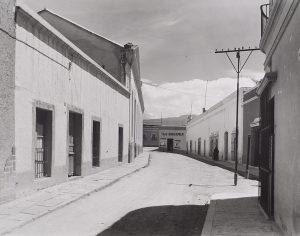 Wright Morris, Street Scene, Cuernevaca, Mexico, 1940, silver print, 1975