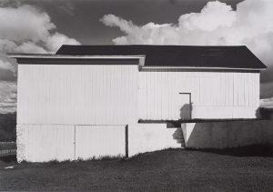 Wright Morris, White Barn, Connecticut, 1940 silver print, 1975