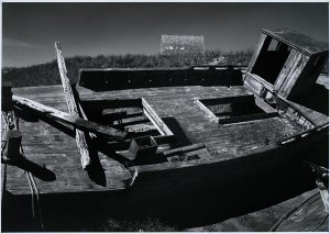 Wright Morris, Beached Boat, Wellfleet, Cape Cod, Massachusetts, 1939 silver print, 1975