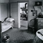Wright Morris, Living Room, View into Kitchen, Ed's Place, Near Norfolk, Nebraska, 1947 silver print, 1975