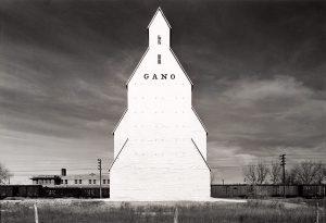 Wright Morris, Gano Grain Elevator, Western Kansas, 1940 silver print, 1975
