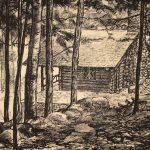Grant Reynard, MacDowell's Cabin, lithograph, 1935