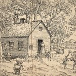 Grant Reynard, Untitled (school house, District 21), ink, n.d.