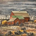 Grant Reynard, Vic Moding's Pigs 201.119, watercolor, n.d.