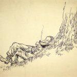 Grant Reynard, Napping, ink, n.d