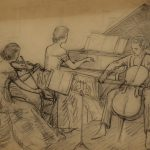 Grant Reynard, Norfleet Trio, Peterborough, New Hampshire Sketch #3, graphite, n.d.