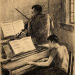 Grant Reynard, Beethoven Sonata, etching (edition of 75), n.d.